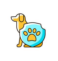 animal protection rgb color icon vector image