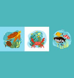 Aquarium design concept vector