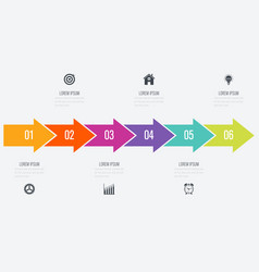 arrows infographic with 5 options vector image