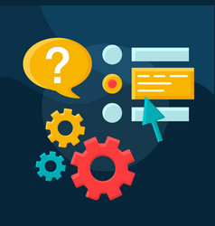 ask question flat concept icon vector image