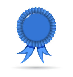 Award Blue Ribbon vector image