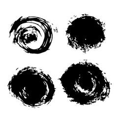 black blobs vector image