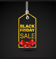 black friday golden label black friday sale tag vector image