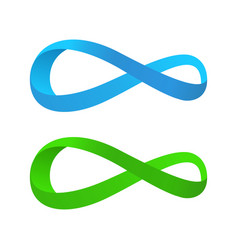 blue and green tape of mobius vector image