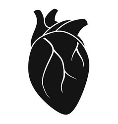 body human heart icon simple style vector image