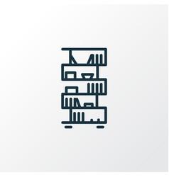 bookshelf icon line symbol premium quality vector image