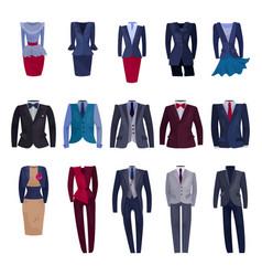 business suit businessman or businesswoman vector image