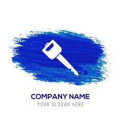 car key icon - blue watercolor background vector image