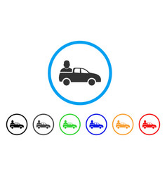 Car passenger rounded icon vector