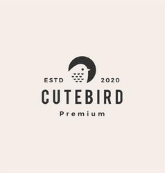 cute bird hipster vintage logo icon vector image