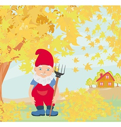Dwarf autumn vector