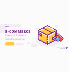 e-commerce and delivery service banner layout vector image