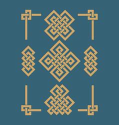 edless chinese knots set vector image