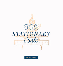eighty percent stationary autumn sale abstract vector image