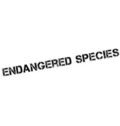 Endangered species black rubber stamp on white vector