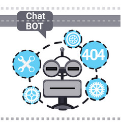Free chat bot fixing error robot virtual vector
