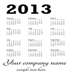 generic calendar portrait vector image