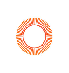 Geometric circle sun element abstract circle vector