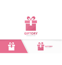 Gift and giftbox logo combination present vector