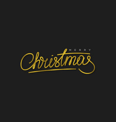 glitter calligraphic sigh merry christmas vector image