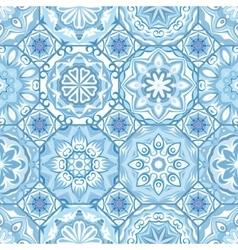 Gorgeous floral tile design vector