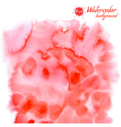 Handpainted red watercolor background vector