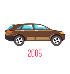 hatchback car 2005 model isolated icon vehicle vector image