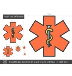 Health care symbol line icon vector