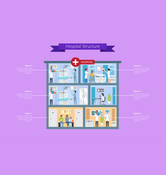 Hospital structure description vector