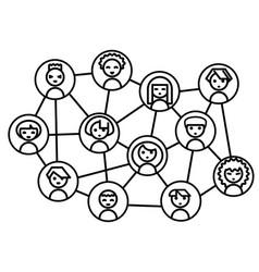 icon set people vector image