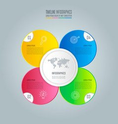 infographic design business concept with 4 vector image