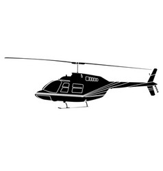 isolated helicopter silhouette vector image