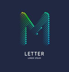 letter m latin alphabet display vector image