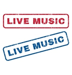 Live Music Rubber Stamps vector