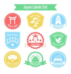Made in Japan labels set vector