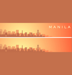 Manila beautiful skyline scenery banner vector