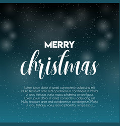 merry christmas snow pattern background vector image