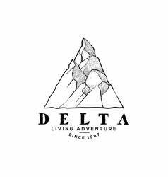 Mountain adventure vector