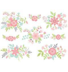 Pastel Bouquets vector