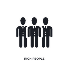 Rich people isolated icon simple element from vector