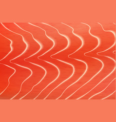 salmon or trout fish meat fillet texture vector image