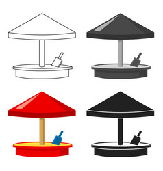 sandbox icon in cartoon style isolated on white vector image