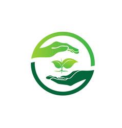 save world green logo designs vector image
