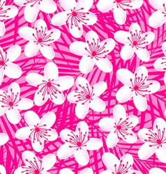 Small white tropical frangipani seamless pattern vector image