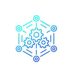 Software api line icon for web vector