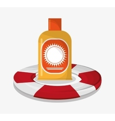 Sunscreen of summer and vacation design vector