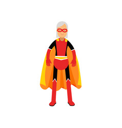 super grandmother senior woman superhero wearing vector image