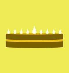 sweet dessert in flat design cream cake vector image