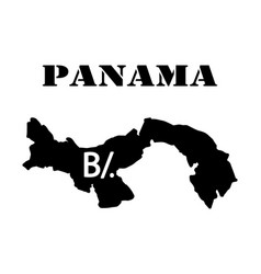 Symbol of isle of panama and map vector