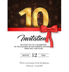 Template of invitation card to the day of the vector